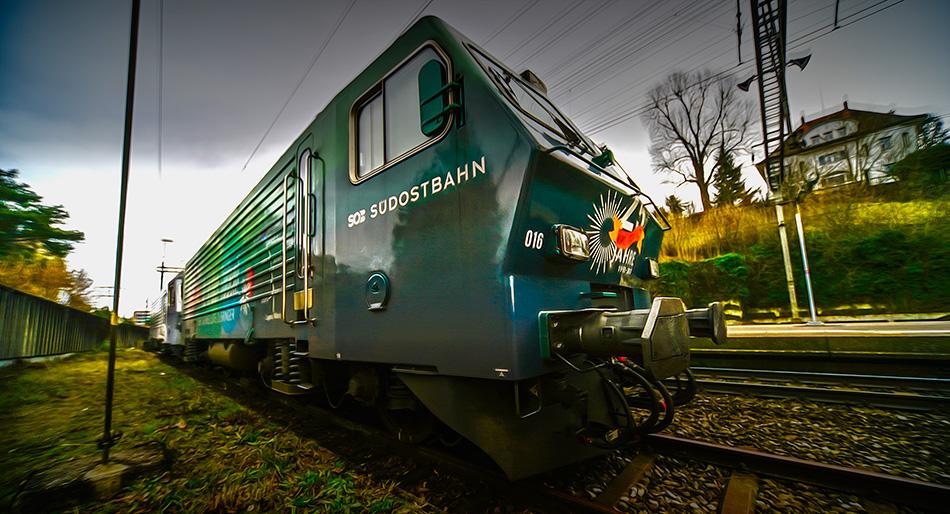 E- Lok der schweizer Südostbahn