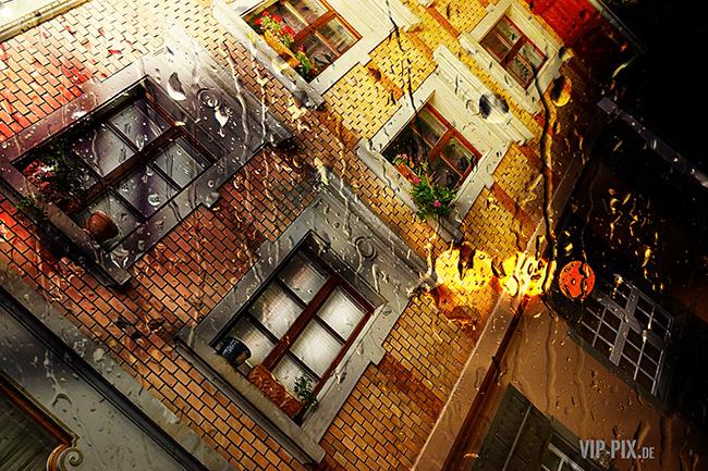 Fensterfassade in der Altstadt