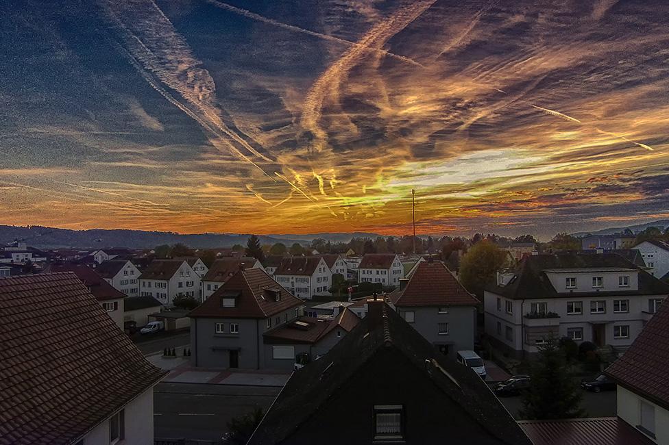 Sonnenuntergang, Drohnenaufnahme