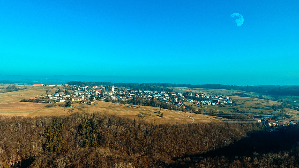 Drohnenaufnahme, Eichsel b. Rheinfelden