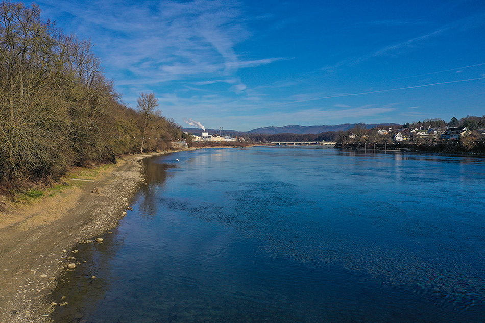Der Rhein bei Rheinfelden AG  (Schweiz)