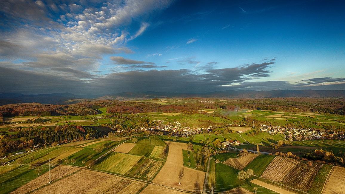 Rheinfelden Minseln aus der Luft  ( Drohnenaufnahme )