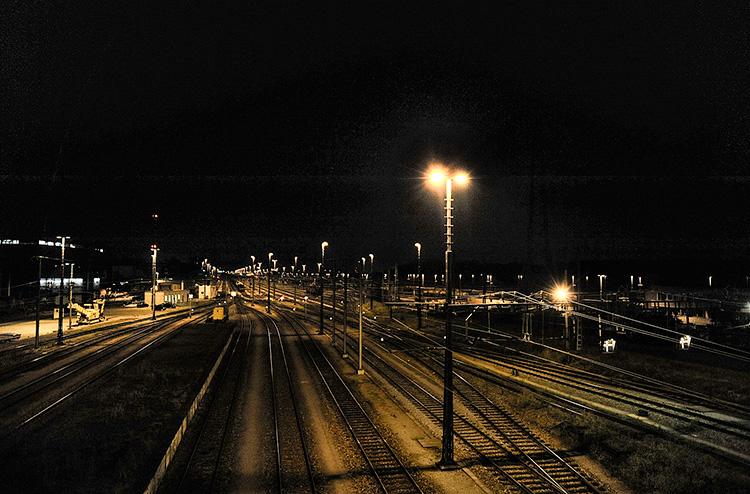 der grösste Rangierbahnhof der Schweiz