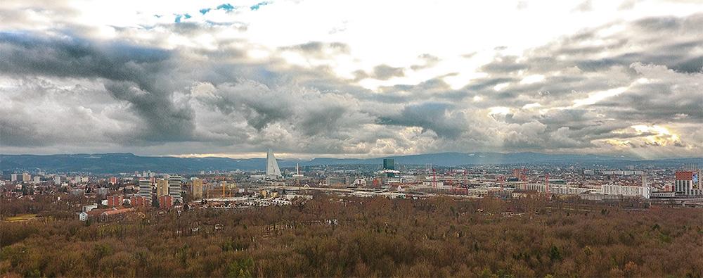 Panorama von Basel/Schweiz
