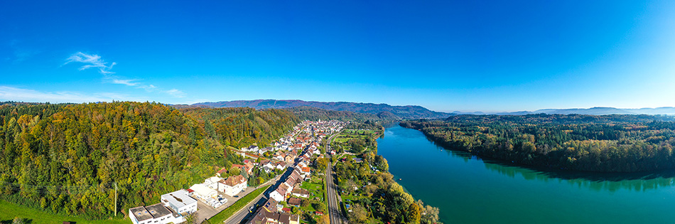 Schwörstadt und schweizer Grenzgebiet